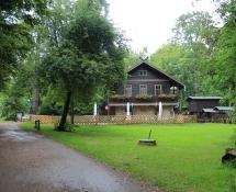 Radler-Rast im alten Forsthaus