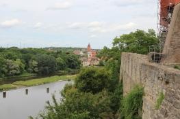 Bernburg - Blick vom Schloss über die Saale