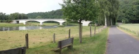 Fulda-Radweg vor Guxhagen