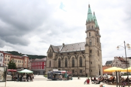 Meiningen, Marktplatz mit Stadtkirche