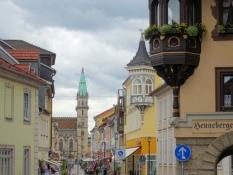 Meiningen, Georgstraße mit Stadtkirche