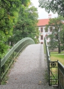 Werra-Brücke am Schloss in Meiningen