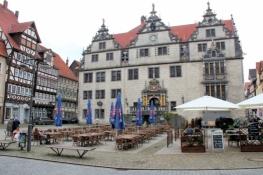 Münden, Marktplatz mit Rathaus