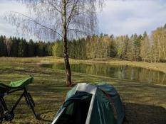 Smuk teltplads i skoven i Söderåsen/Beautiful tentsite in the Soederaasen forest