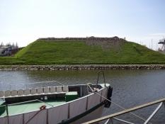 Klaipedas borgbanke, hvor ridderordenens borg stod/Klaipeda castle bank where the castle once stood