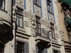 Detaljer fra en husfacade i Albert-gaden/Details from a house facade in Albert street