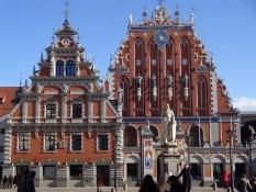 Gotiske huse på rådhuspladsen/Gothic houses on the city hall square