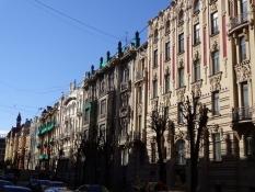 Husrække i Albert-gade i jugendstil-kvarteret/Block of houses in the art nouveau quarter