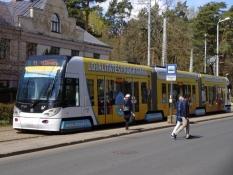 Riga har fået en letbane ud til forstæderne/Rigaʹs got a modern tramway to the suburbs