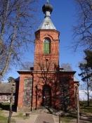 Den ortodokse kirke i Ainaži nær den estiske grænse/Orthodox church of Ainazi near Estonian border