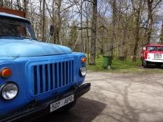 Udstilling af gamle russiske lastbiler i Vatla/Exhibition with old Russian lorries at Vatla