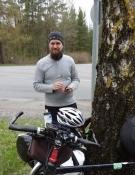 Mit herlige finske cykelbekendtskab Joonas/My hilarious Finnish bike acquaintance Joonas