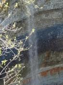 Det 30 m høje Valaste vandfald var svært at fotografere/The 30 m high Valaste waterfall
