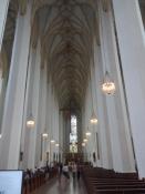 Det meget høje kirkeskib i Frauenkirche indefra