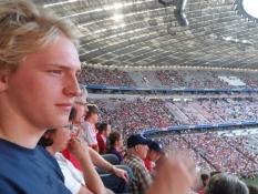 Klar til kampene på Allianz Arena