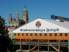Et Oktoberfesttelt på Theresienwiese