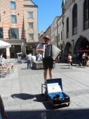 Bayersk gademusikant på Marienplatz