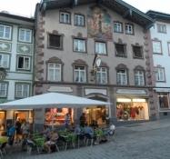 Flotte huse i gågaden i Bad Tölz