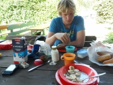 Morgenmad på Alpe-camping i Arzbach