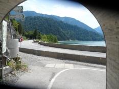 For enden af cykeltunnellen ved Sylvenstein