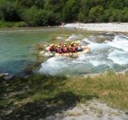 Rafting i gummibåd på Isar