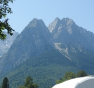 Zugspitze (th) set fra campingpladsen