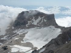 Zugspitz-gletsjeren med Schneefernerkopf