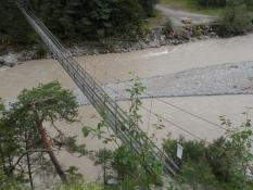 Hængebro over Lech til fodgængere.