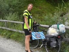 Min cykel har fået et flag med Ludwig II.