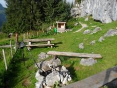 Grillplads i alpine omgivelser
