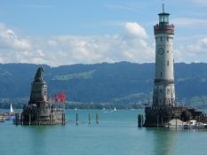 Havneindsejlingen i Lindau.