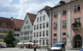 Rottenburg, Marktplatz mit Rathaus