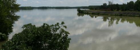 Zusammenfluss von Tarn und Garonne