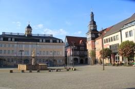 Eisenach, Stadtschloss und Rathaus