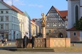 Eisenach, Georgenbrunnen und Creutznacher Haus