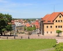 Gotha, Blick vom Schloss auf den Hauptmarkt