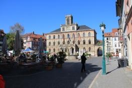 Weimar, Marktplatz mit Rathaus