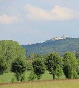 Blick aus dem unteren Hörsel-Tal auf die Wartburg