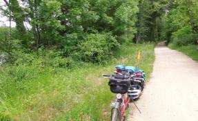 Rhoneradweg bei Meyzieu