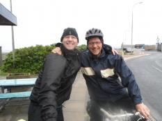 Bernhard og Michael i Bøjden færgehavn
