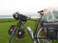 Cyklen pakket til tre dages telttur