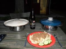 Aftensmad på Arnborg Camping