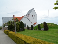 Timring kirkes ydre fra nord