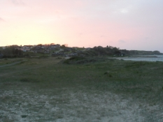 Solnedgang over Lem vig