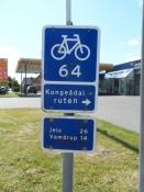 Godt skiltet cykelrute.