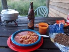 Og her er min aftensmad