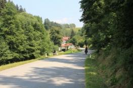 Auf Nebenstraße im Tal der Kleinen Mühl