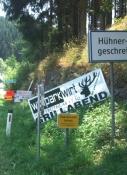 Ungewöhnlicher Ortsname: Hühnergeschrei