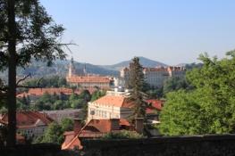 Blick zurück auf Český Krumlov