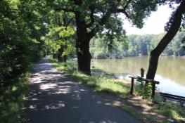 Moldau-Radweg hinter České Budějovice